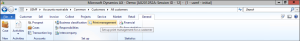 From the customers maintenance form, select the Print Management option from the Setup group of the General Ribbon Bar