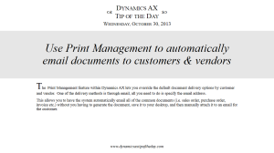 Use Print Management to Automatically Email Documents to Customers & Vendors