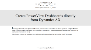Create PowerView Dashboards directly from Dynamics AX