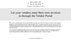 Let your vendors enter their own invoices in through the Vendor Portal