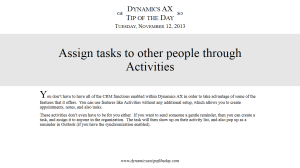 Assign tasks to other people through Activities