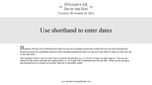 Use shorthand to enter dates