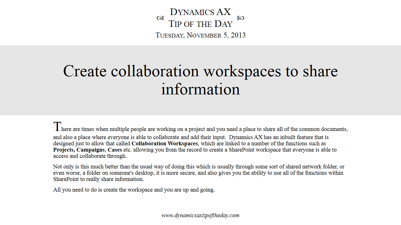 Uncategorized Dynamics Ax Tip Of The Day Page 2