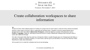 Create collaboration workspaces to share information