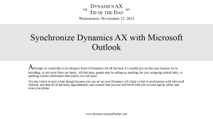 Synchronize Dynamics AX with Microsoft Outlook