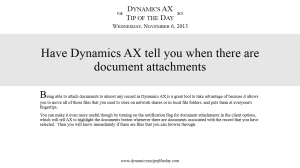 Have Dynamics AX tell you when there are document attachments