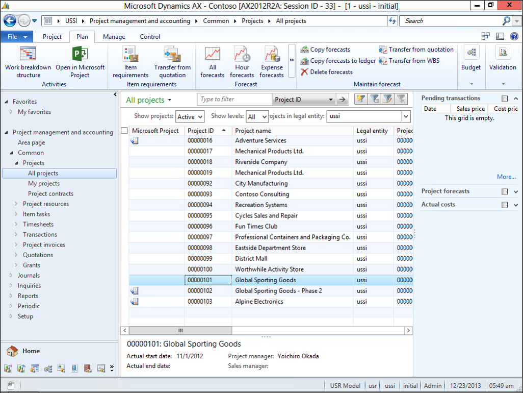 this will open up microsoft project with all of your work breakdown structure from the dynamics ax project configured as a microsoft project project plan