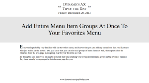 Add Entire Menu Item Groups At Once To Your Favorites Menu
