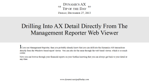 Drilling Into AX Detail Directly From The Management Reporter Web Viewer