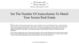 Set The Number Of Autocolumns To Match Your Screen Real Estate