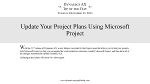 Update Your Project Plans Using Microsoft Project