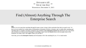 Find (Almost) Anything Through The Enterprise Search