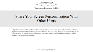 Share Your Screen Personalization With Other Users