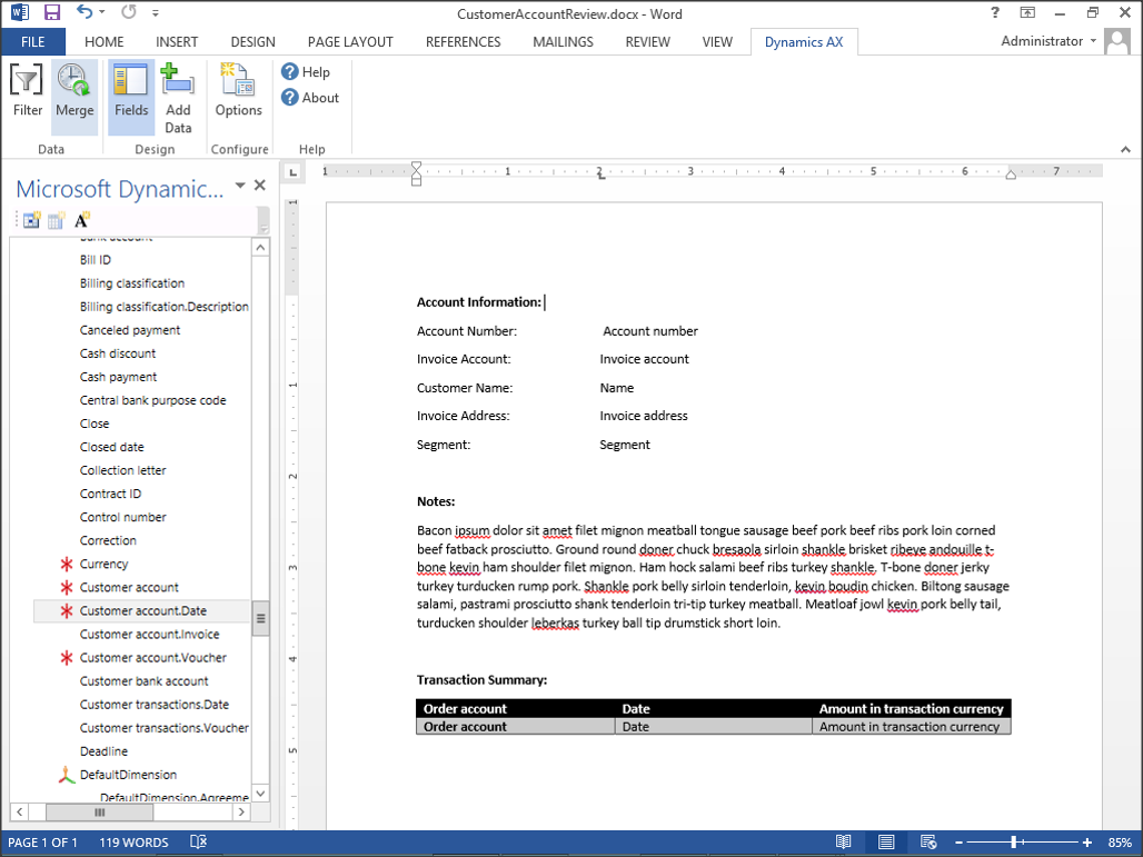 Use Word Templates To Generate Standard Customer Correspondence
