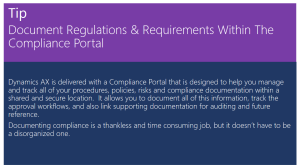 Tip Of The Day - Document Regulations & Requirements Within The Compliance Portal