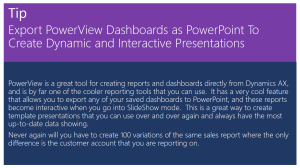 Export PowerView Dashboards as PowerPoint To Create Dynamic and Interactive Presentations