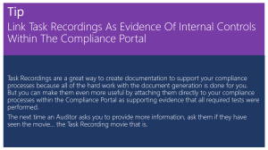 Tip Of The Day - Link Task Recordings Within The Compliance Portal