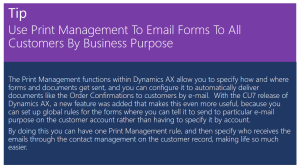 Use Print Management To Email Forms To All Customers By Business Purpose