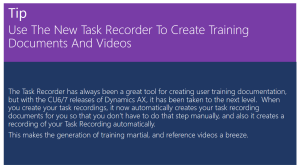 Use The New Task Recorder To Create Training Documents And Videos